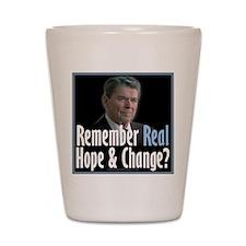 Reagan: Real Hope & Change Shot Glass