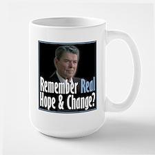 Reagan: Real Hope & Change Large Mug