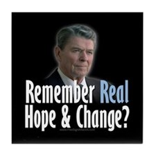 Reagan: Real Hope & Change Tile Coaster
