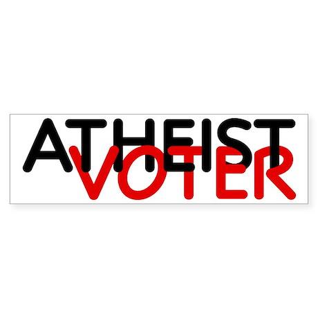 Atheist Voter Sticker (Bumper)