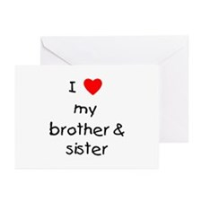 I love my brother & sister Greeting Cards (Package
