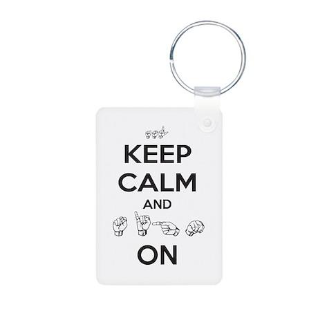 Sign On Aluminum Photo Keychain