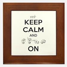Sign On Framed Tile