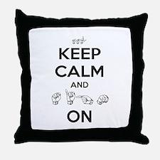 Sign On Throw Pillow