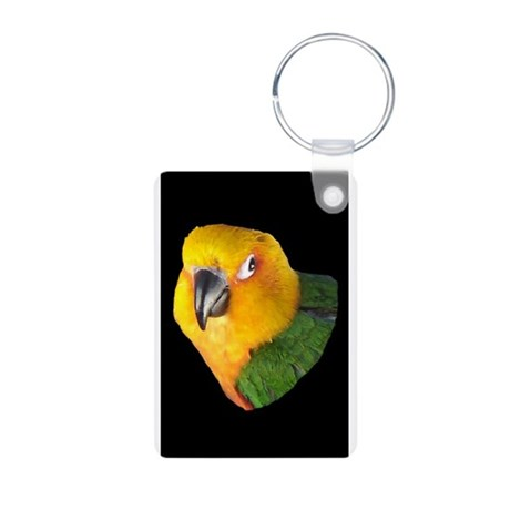 Black Beak Christmas Aluminum Photo Keychain