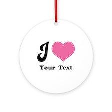 Personalized Love Heart Ornament (Round)