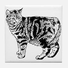 Manx Cat Tile Coaster