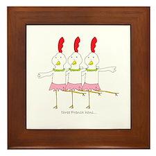 three French hens Framed Tile