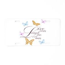 Live, Laugh, Love Simply Butterflies Aluminum Lice