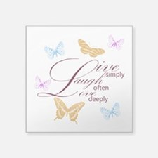 Live, Laugh, Love Simply Butterflies Square Sticke