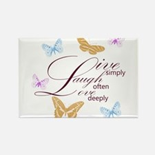 Live, Laugh, Love Simply Butterflies Rectangle Mag