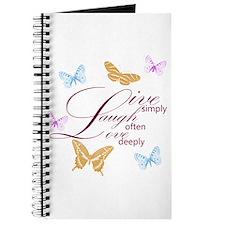 Live, Laugh, Love Simply Butterflies Journal