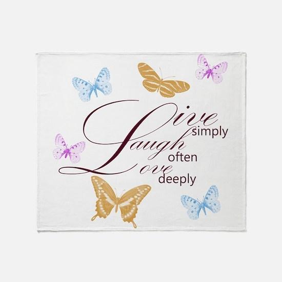 Live, Laugh, Love Simply Butterflies Stadium Blan