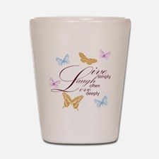 Live, Laugh, Love Simply Butterflies Shot Glass