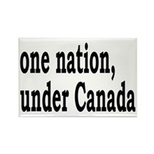 One Nation Under Canada Rectangle Magnet
