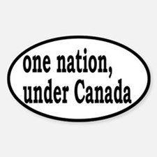 One Nation Under Canada Sticker (Oval)