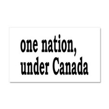 One Nation Under Canada Car Magnet 20 x 12