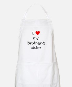 I love my brother & sister BBQ Apron