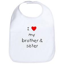I love my brother & sister Bib
