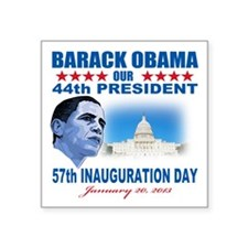 "57th Presidential Inauguration Square Sticker 3"" x"