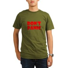 Dont Panic Hitchhikikers T-Shirt