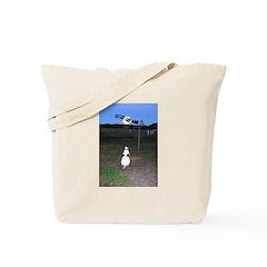 Santa and Sleigh Tote Bag