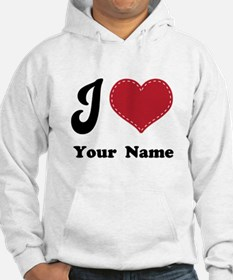 Personalized Red Heart Jumper Hoody