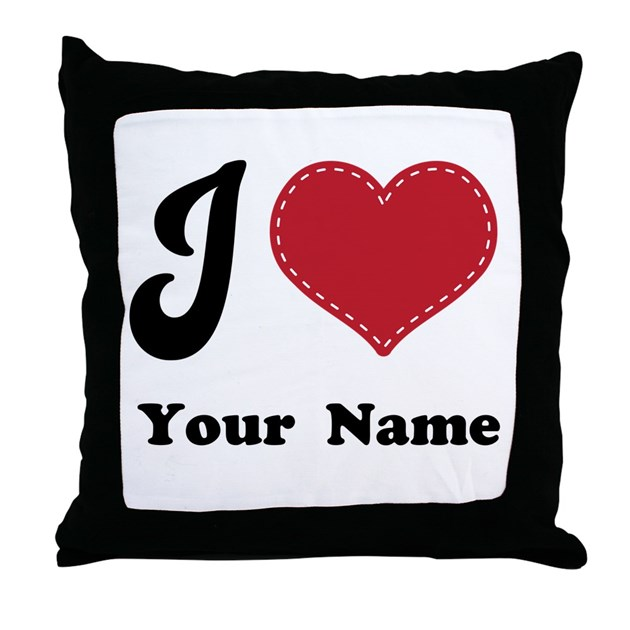 Personalized Heart Throw Pillow : Personalized Red Heart Throw Pillow by cutecoupleshirts