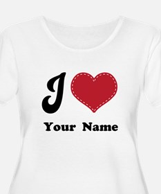 Personalized Red Heart T-Shirt