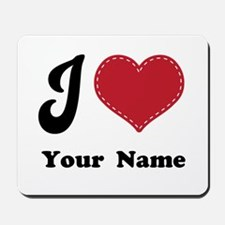 Personalized Red Heart Mousepad
