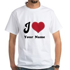 Personalized Red Heart Shirt