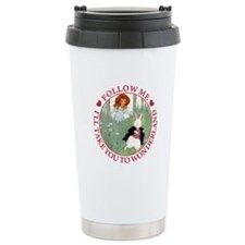 Follow Me To Wonderland Travel Coffee Mug