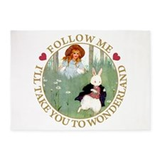 Follow Me To Wonderland 5'x7'Area Rug