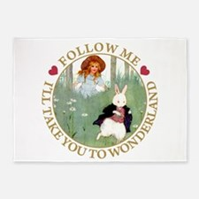 Follow Me To Wonderland 5'x7'Area Rug