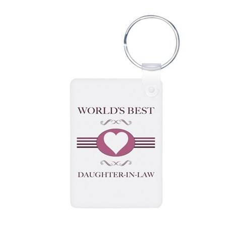 Daughter-In-Law w/ Heart Aluminum Photo Keychain