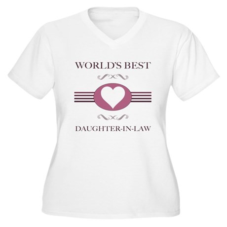 Daughter-In-Law w/ Heart Women's Plus Size V-Neck