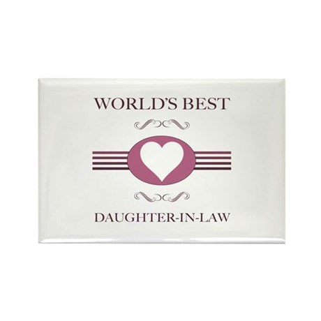 Daughter-In-Law w/ Heart Rectangle Magnet