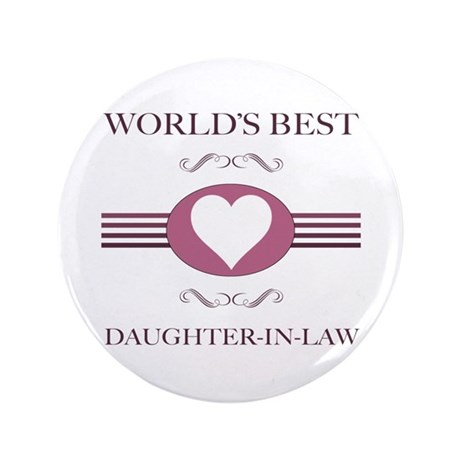 """Daughter-In-Law w/ Heart 3.5"""" Button"""