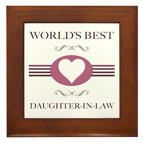Daughter-In-Law w/ Heart Framed Tile