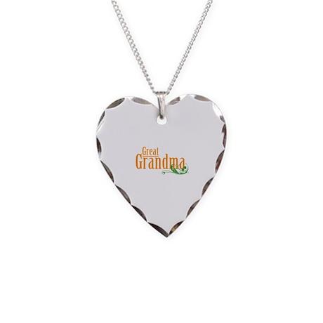 Great Grandma Gardener Necklace Heart Charm
