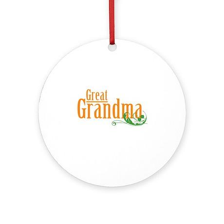 Great Grandma Gardener Ornament (Round)