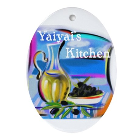 YiaYia's Kitchen Ornament (Oval)