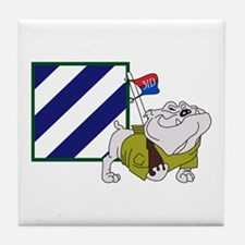 RockyBulldog 3ID Tile Coaster