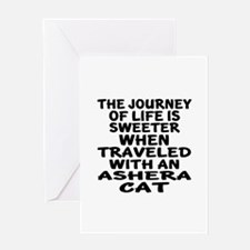 Traveled With ashera Cat Greeting Card