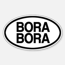 Bora Bora Sticker (Oval)