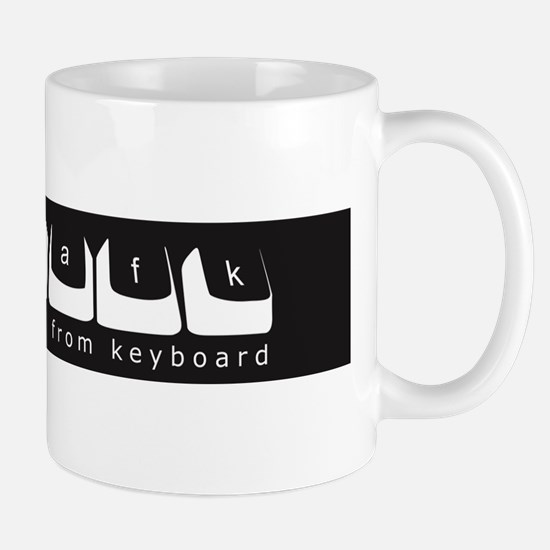 /afk Keys - White Letters w/Site Mug