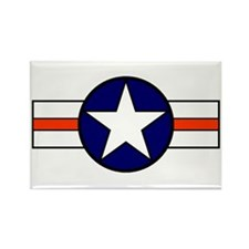 The USAF Red Stripe Shop Rectangle Magnet