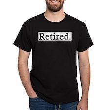 Retired Black T-Shirt