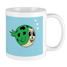 Spotted-Green Puffer Fish Mug