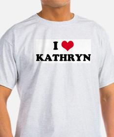 I HEART KATHRYN Ash Grey T-Shirt